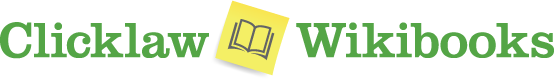 Clicklaw Wikibooks logo