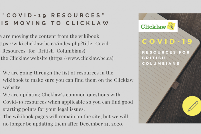 social media promo with text and small icon of the cover for the COVID-19 Resources Wikibook